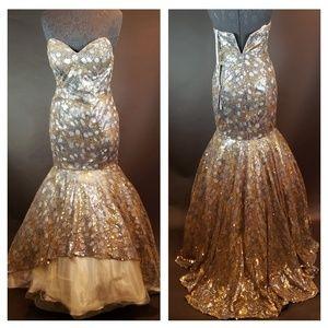 Jovani Dresses - Jovani Prom Strapless Mermaid  Prom Gown